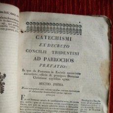 Libros antiguos: 1761-BULA PAPAL. CATECISMO. CONCILIO TRENTO. RELIGIÓN. Lote 53124793