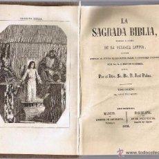 Libros antiguos: LA SAGRADA BIBLIA - VULGATA LATINA - JOSÉ PALAU - AÑO 1.858. Lote 53396355