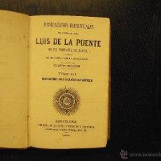 Libros antiguos: MEDITACIONES ESPIRITUALES DEL VENERABLE PADRE LUIS DE LA PUENTE. Lote 53452136