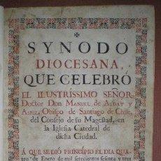 Libros antiguos: SYNODO DIOCESANA... Y SYNODO DIOCESANA CON LA CARTA PASTORAL... LIMA 1764. Lote 53500300