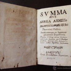 Libros antiguos: POST INCUNABLE DICCIONARIO INQUISICION 1554 BARTOLOMEO FUMII. Lote 53615890
