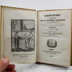 Libros antiguos: CATECISMO HISTÓRICO O COMPENDIO DE LA HISTORIA SAGRADA, GERONA AÑO 1853. 10,5X15,5 CM. CON GRABADOS. Lote 53631849