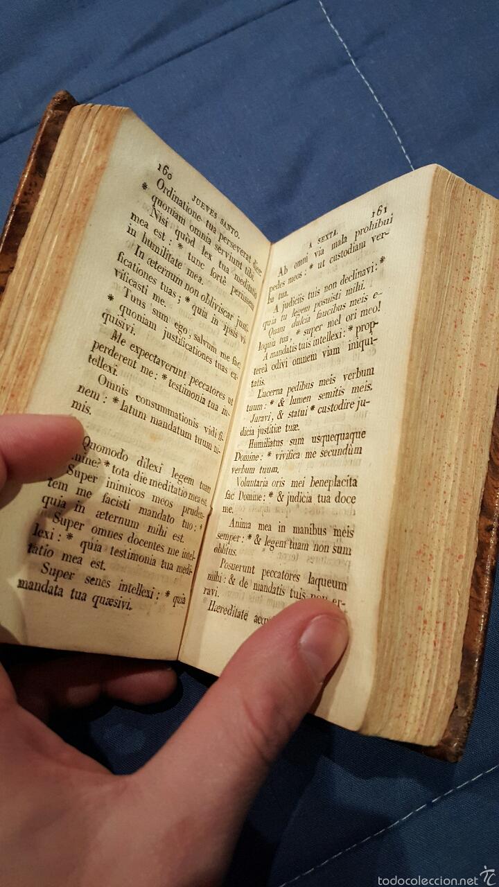 Libros antiguos: 1821. OFICIO DE LA SEMANA SANTA SEGUN EL MISAL Y BREVIARIO ROMANOS - Foto 5 - 179078551