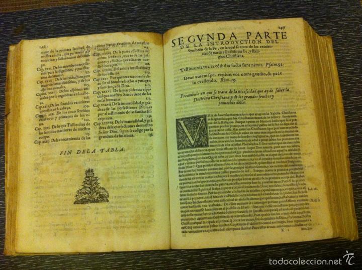 Libros antiguos: ANTIGUO LIBRO INTRODVCTION DEL SIMBOLO DE LA FE - FRAY LUIS DE GRANADA, EDICION DE 1603, PIEZA UNICA - Foto 10 - 53736759