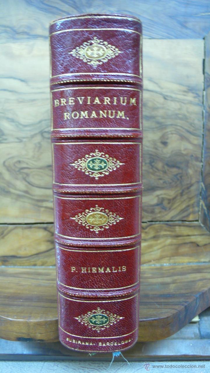 BREVIARIUM ROMANUM EX DECRETO SS. CONCILII TRIDENTINI... 4 OBRAS EN 1 VOL. 1891. (Libros Antiguos, Raros y Curiosos - Religión)