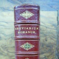 Libros antiguos: BREVIARIUM ROMANUM EX DECRETO SS. CONCILII TRIDENTINI... 4 OBRAS EN 1 VOL. 1891. . Lote 53746646