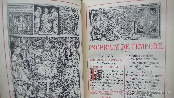 Libros antiguos: BREVIARIUM ROMANUM EX DECRETO SS. CONCILII TRIDENTINI... 4 OBRAS EN 1 VOL. 1891. - Foto 6 - 53746646