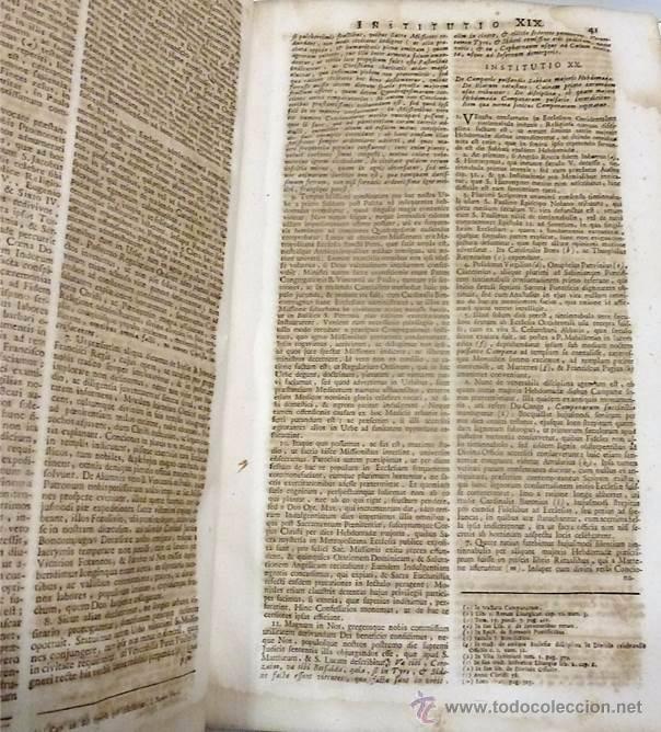 Libros antiguos: BENEDICTI XIV PONT OPT MAX OLIM PROSPERI CARD DE LAMBERTINIS INSTITUTIONUM ECCLESIASTICARUM-1.760 - Foto 3 - 53762584