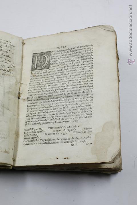 Libros antiguos: concilio de tento, canones et decreta sacrosancti, granatae, granada. Año 1564. 15x21 cm. - Foto 5 - 53783483