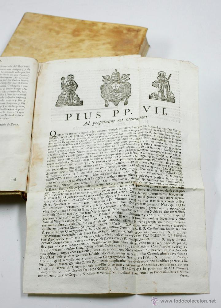 Libros antiguos: ADMIRABLE VIDA DEL PADRE FRANCISCO DE GERONYMO, COMP. DE JESÚS, 2 TOMOS. MADRID 1758 - Foto 5 - 53797600