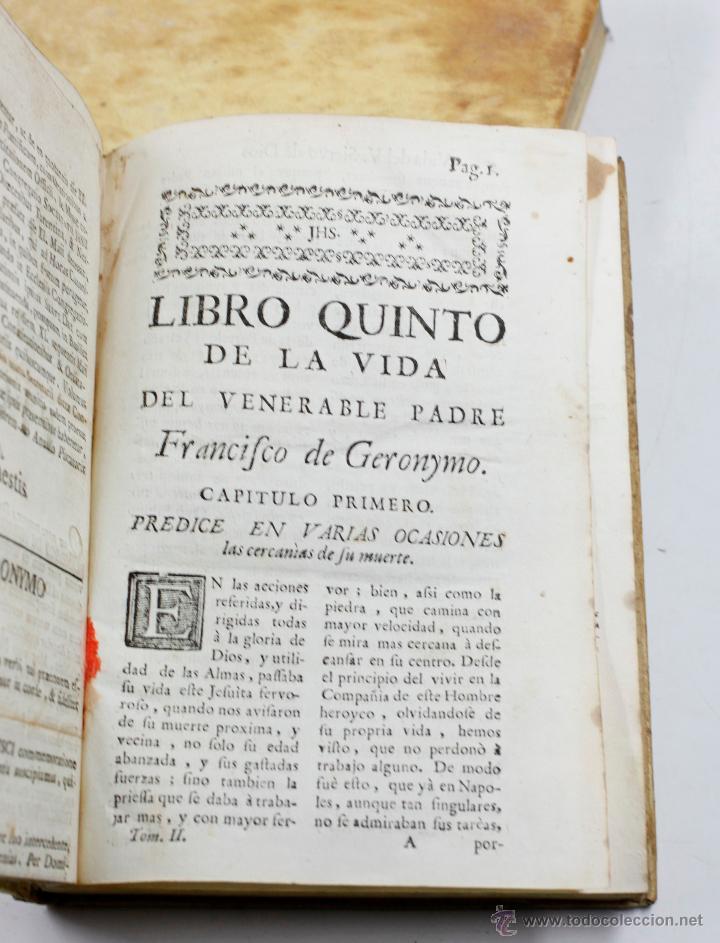 Libros antiguos: ADMIRABLE VIDA DEL PADRE FRANCISCO DE GERONYMO, COMP. DE JESÚS, 2 TOMOS. MADRID 1758 - Foto 6 - 53797600