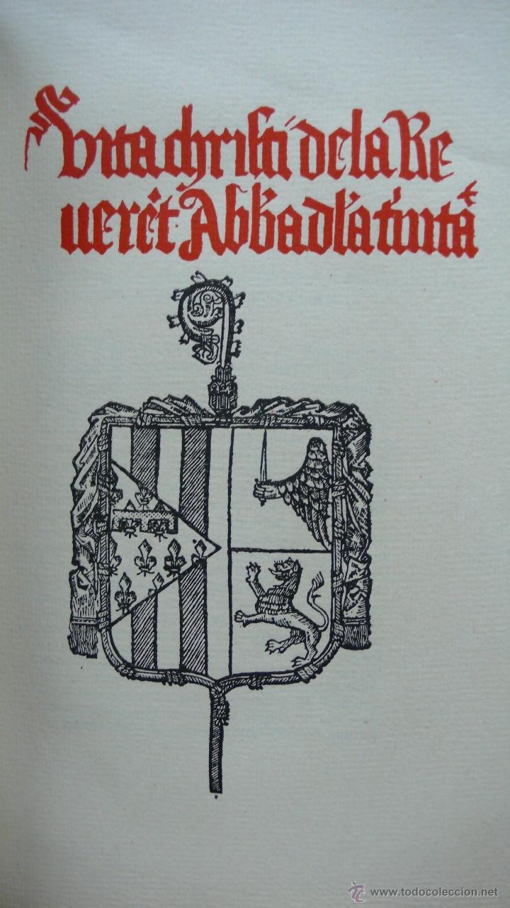 Libros antiguos: LLIBRE ANOMENAT VITA CHRISTI. SOR ISABEL DE VILLENA. R. MIQUEL Y PLANAS. 1916. PRIMER VOLUM. - Foto 5 - 54059405
