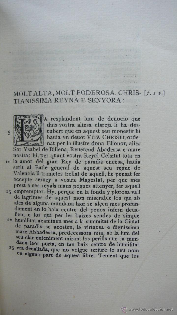 Libros antiguos: LLIBRE ANOMENAT VITA CHRISTI. SOR ISABEL DE VILLENA. R. MIQUEL Y PLANAS. 1916. PRIMER VOLUM. - Foto 6 - 54059405