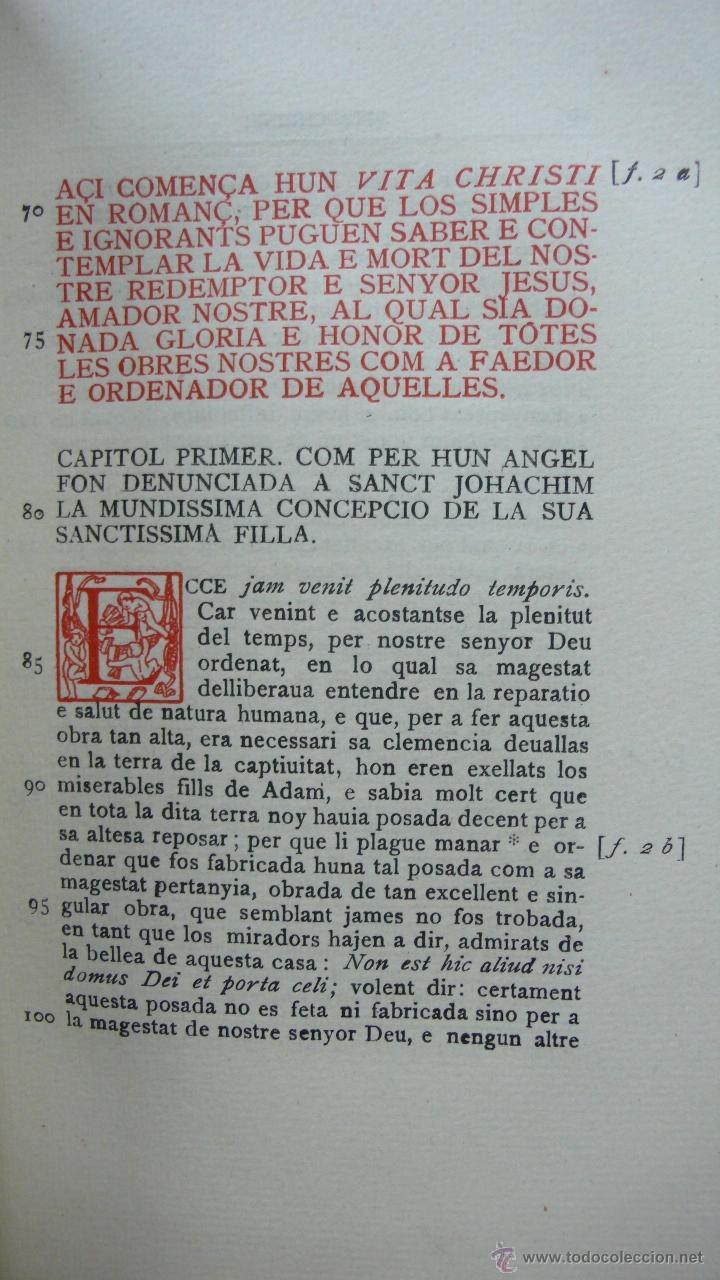 Libros antiguos: LLIBRE ANOMENAT VITA CHRISTI. SOR ISABEL DE VILLENA. R. MIQUEL Y PLANAS. 1916. PRIMER VOLUM. - Foto 7 - 54059405