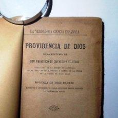 Libros antiguos: PROVIDENCIA DE DIOS. 1882. FRANCISCO DE QUEVEDO. Lote 54147124