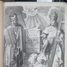 Libros antiguos: 1767.- BIBLIA SACRA VULGATAE. JOAQUIN IBARRA. 2 TOMOS. COMPLETA. CON GRABADO DE GERONIMO ANTONIO GIL. Lote 54185114