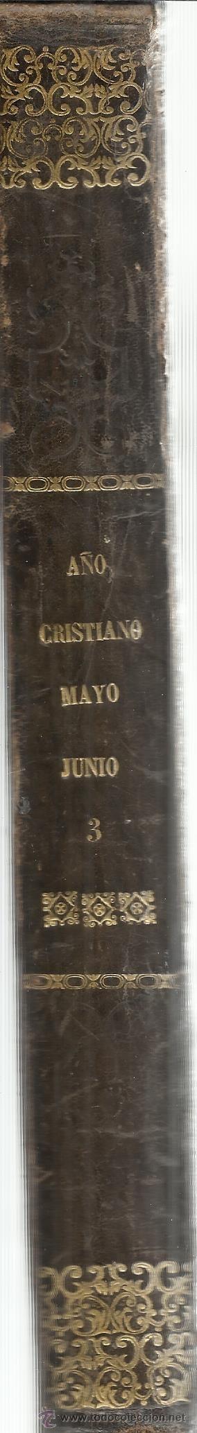 Libros antiguos: AÑO CRISTIANO. P. JUAN CROISSET. TOMO SEGUNDO. GASPAR Y ROIG EDITORES. - Foto 2 - 54389468