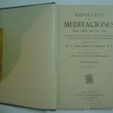 Libros antiguos: AMBROSIO SPINOLA. RAMILLETE DE MEDITACIONES PARA CADA DIA DEL AÑO. 1929. Lote 54421938