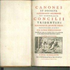 Libros antiguos: CANONES ET DECRETA SACROSANCTI OECUMENICI ET GENERALIS CONCILII TRIDENTINI. Lote 54667949