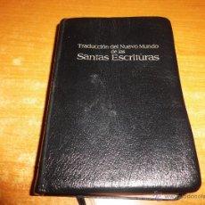 Libros antiguos: BIBLIA TESTIGOS DE JEHOVA TRADUCCION DEL NUEVO MUNDO WATCHTOWER EDICIÓN LUJO BOLSILLO. Lote 190918042