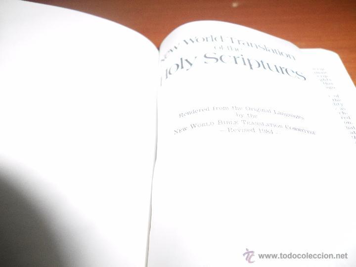 Libros antiguos: BIBLIA TESTIGOS DE JEHOVA New world translation WATCHTOWER EDICIÓN LUJO BOLSILLO INGLES - Foto 2 - 54830604