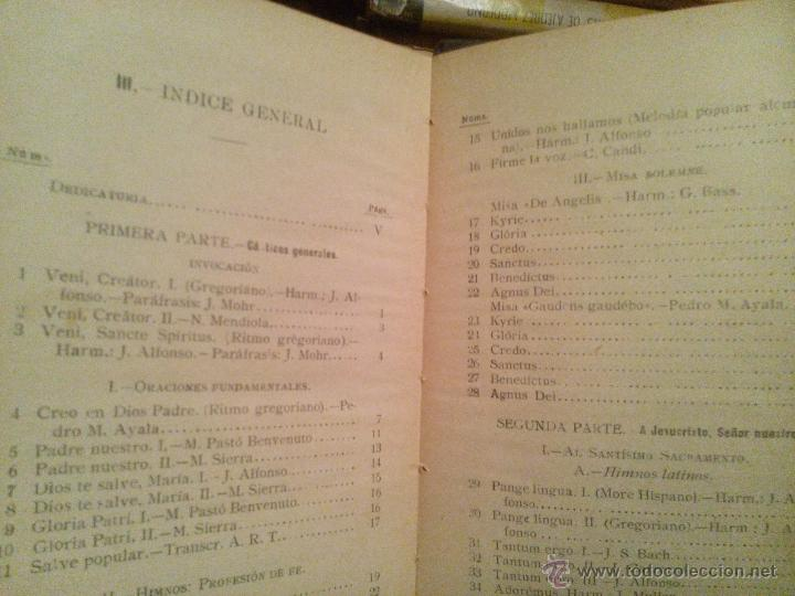 Libros antiguos: cantemos al señor / 1925 - Foto 2 - 54210862