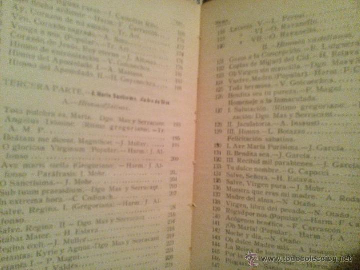 Libros antiguos: cantemos al señor / 1925 - Foto 3 - 54210862
