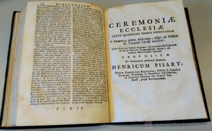 Libros antiguos: BIBLIOFILOS,RARISIMO LIBRO SOBRE LA LITURGIA DE LA MISA,SIGLO XVIII,AÑO1732,UNICO EN VENTA EN ESPAÑA - Foto 5 - 54912909