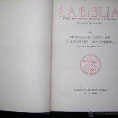 Libros antiguos: LA BIBLIA DELS TEXTOS ORIGINALS I COMENTARI PELS MONJOS DE MONTSERRAT AÑO 1929 TOMO 20. Lote 54996621