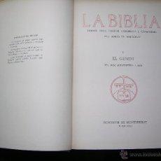 Libros antiguos: LA BIBLIA DELS TEXTOS ORIGINALS I COMENTARI PELS MONJOS DE MONTSERRAT TOMO 1 GENESIS AÑO 1926. Lote 54997128