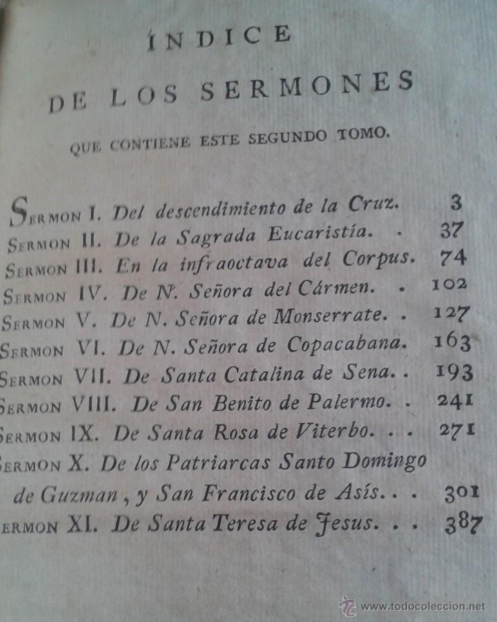 Libros antiguos: SERMONES PANEGÍRICOS DE VARIOS MISTERIOS FESTIVIDADES Y SANTOS .GARCÍA TOMO II 1.804 - Foto 6 - 55031916