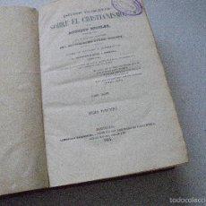 Libros antiguos: ESTUDIOS FILOSÓFICOS SOBRE EL CRISTIANISMO-AUGUSTO NICOLÁS-TOMO TERCERO-1864-LIBRERÍA RELIGIOSA-. Lote 55118901