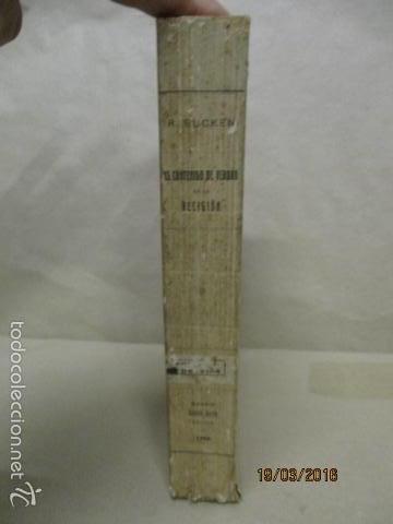 Libros antiguos: EL CONTENIDO DE VERDAD EN LA RELIGIÓN - RUDOLF EUCKEN - Año 1925 - Foto 2 - 55145509