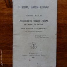 Libros antiguos: LIBRILLO EL VENERABLE MARCELINO CHAMPAGNAT. DATOS HERMANOS MARISTAS. BARCELONA 1907. Lote 55320284