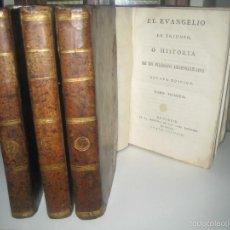 Libros antiguos: EL EVANGELIO EN TRIUNFO, O HISTORIA DE UN FILÓSOFO DESENGAÑADO 4 TOMOS. Lote 55556157
