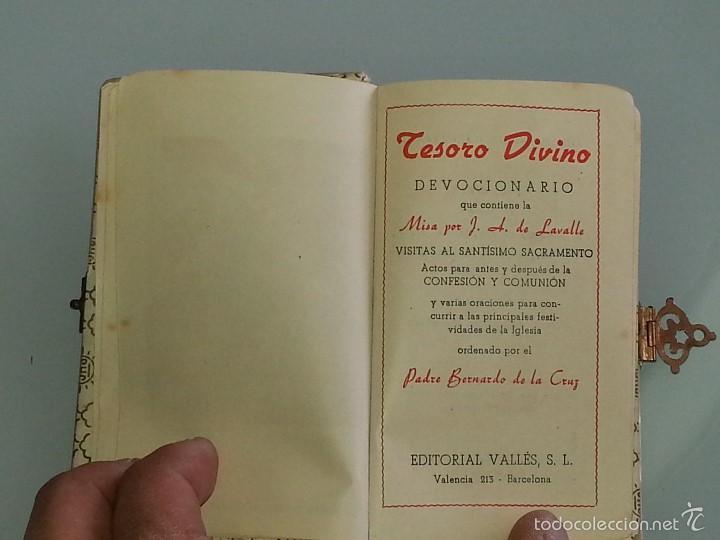 Libros antiguos: ANTIGUO DEVOCIONARIO TAPAS DE NACAR TESORO DIVINO MISA POR J.A DE LAVALLE EDITORIAL VALLES AÑO 1927 - Foto 10 - 55918045