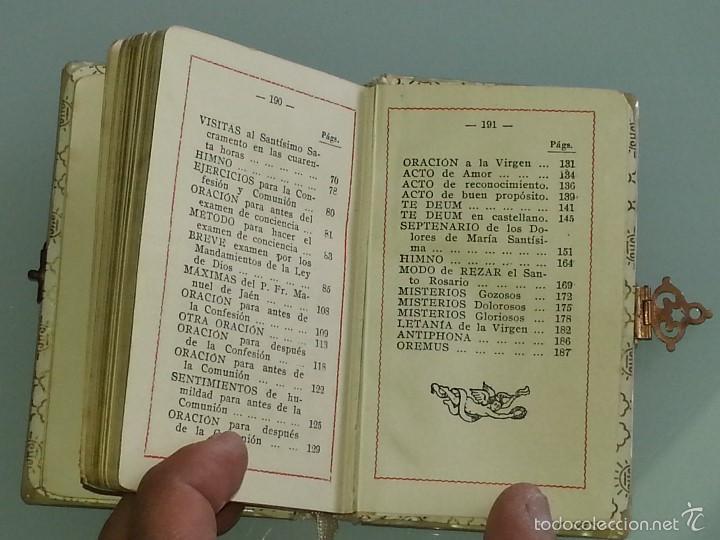 Libros antiguos: ANTIGUO DEVOCIONARIO TAPAS DE NACAR TESORO DIVINO MISA POR J.A DE LAVALLE EDITORIAL VALLES AÑO 1927 - Foto 13 - 55918045