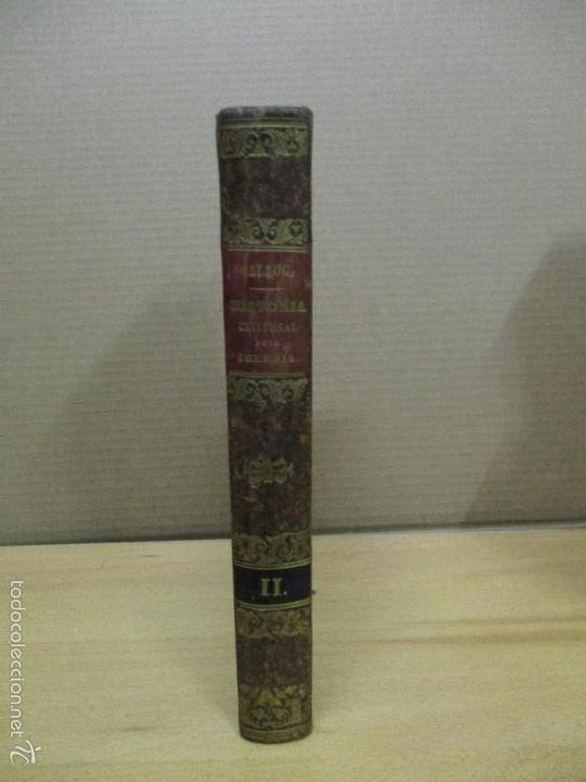 HISTORIA UNIVERSAL DE LA IGLESIA TOMO 2 JUAN ALZOG AÑO 1852 (VER FOTOS) (Libros Antiguos, Raros y Curiosos - Religión)