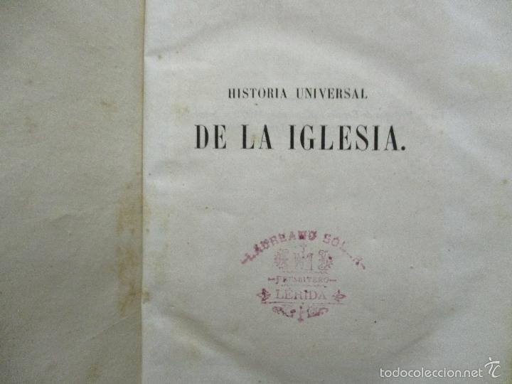 Libros antiguos: HISTORIA UNIVERSAL DE LA IGLESIA TOMO 2 JUAN ALZOG AÑO 1852 (ver fotos) - Foto 6 - 56051186