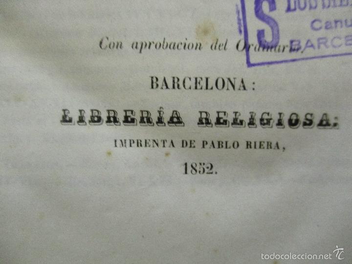 Libros antiguos: HISTORIA UNIVERSAL DE LA IGLESIA TOMO 2 JUAN ALZOG AÑO 1852 (ver fotos) - Foto 11 - 56051186