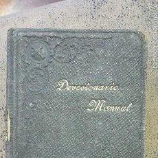 Libros antiguos: DEVOCIONARIO MANUAL DE LA COMPAÑIA DE JESUS- BILBAO 1902. Lote 56171586