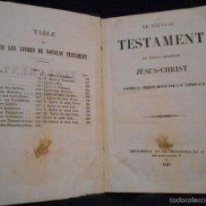 Libros antiguos: LE NOVEAU TESTAMENT DE NOTRE SEIGNEUR JÉSUS-CHRIST, D'APRÈS LA VERSIÓN REVUE PAR J.F. OSTERVALD 1856. Lote 56243470