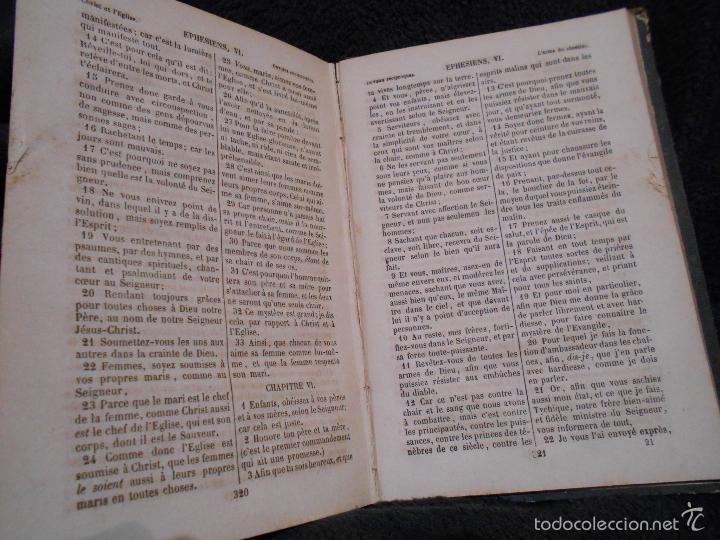 Libros antiguos: Le Noveau Testament de Notre Seigneur Jésus-Christ, d'après la versión revue par J.F. Ostervald 1856 - Foto 4 - 56243470
