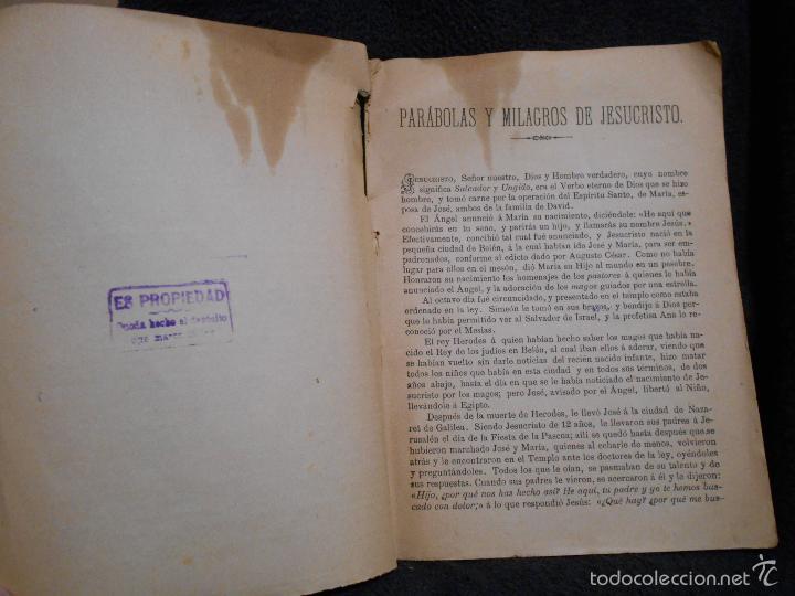 Libros antiguos: Parábolas y Milagros de Jesucristo. Publicado por L.L.R. [Luis López Rodríguez] Figueras, 1900. - Foto 4 - 56243877