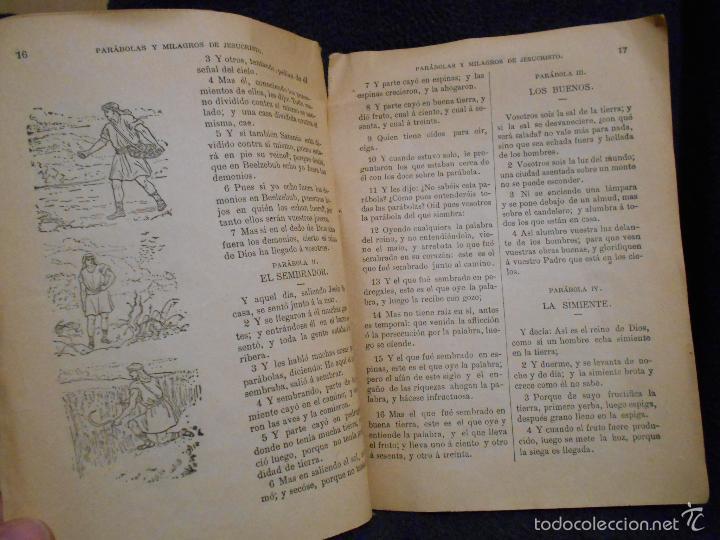 Libros antiguos: Parábolas y Milagros de Jesucristo. Publicado por L.L.R. [Luis López Rodríguez] Figueras, 1900. - Foto 5 - 56243877