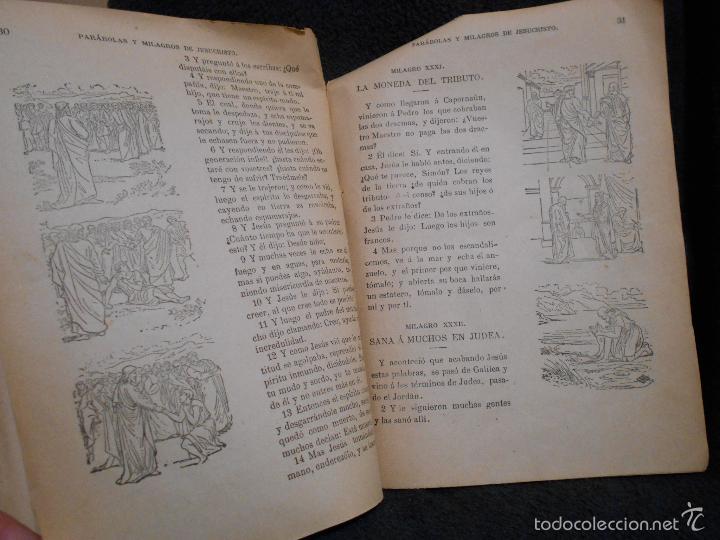 Libros antiguos: Parábolas y Milagros de Jesucristo. Publicado por L.L.R. [Luis López Rodríguez] Figueras, 1900. - Foto 6 - 56243877