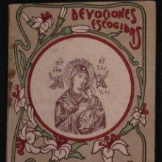 Libros antiguos: NOVENA PERPETUO SOCORRO, DEVOCIONES ESCOGIDAS CALLEJA. Lote 56279727