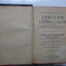 Libros antiguos: EJERCICIOS ESPIRITUALES - P.ANTONIO JOSE REGONÓ - 1908.. Lote 56318584