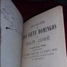 Libros antiguos: DEVOCIÓN DE LOS SIETE DOMINGOS DE SAN JOSÉ - MADRID 1897. Lote 56364472
