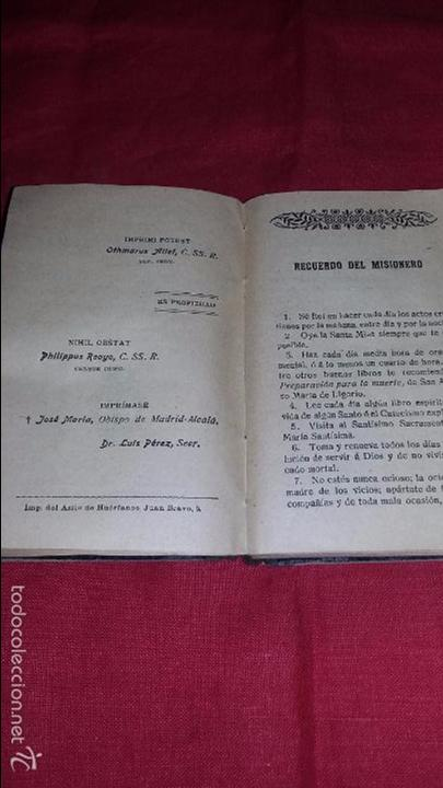 Libros antiguos: RECUERDO DEL MISIONERO O DEVOCIONARIO POPULAR MADRID 1912 - Foto 4 - 56364608